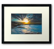Rough Morning Framed Print