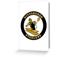 Pittsburgh Steelers logo 2 Greeting Card