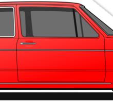Volkswagen Golf Mk1 - Red Sticker