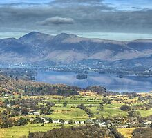 Derwentwater from Castle Crag by Jamie  Green