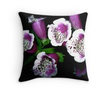 Foxglove Imagery Throw Pillow