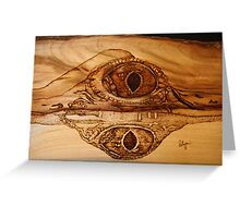 Eye of a Fresh Water Croc Greeting Card