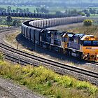 Hunter Valley Coal Train NSW Australia by Phil Woodman