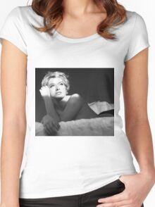 Dreaming wide awake  Women's Fitted Scoop T-Shirt