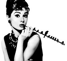 Audrey and the birds by Vintagestuff