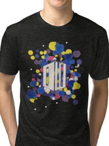 Dr Who Logo Colour Splatter Tri-blend T-Shirt