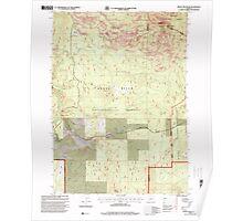 USGS Topo Map Oregon Brown Mountain 279158 1998 24000 Poster