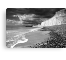 Storm approaching, Birling Gap Canvas Print