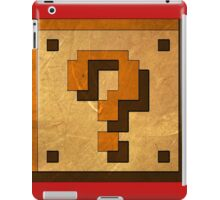 mario coin block iPad Case/Skin