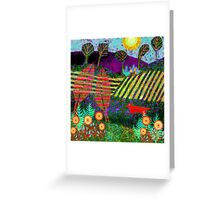 Spotty Fox goes for a walk Greeting Card