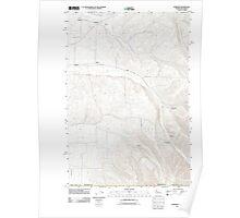 USGS Topo Map Washington Buroker 20110914 TM Poster