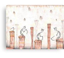 Striped Stockings Canvas Print