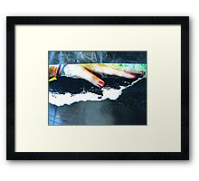 one touch Framed Print
