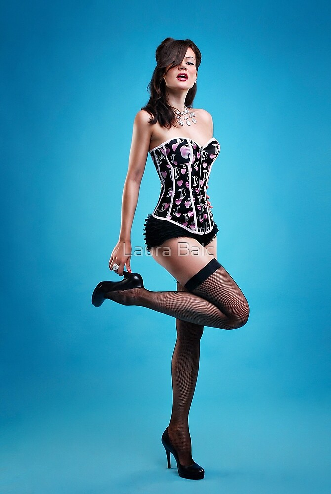 """""""Strike a pose"""" Pin up Girl  by Laura Balc"""