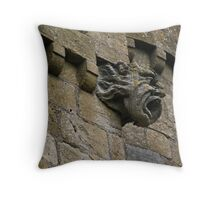 Broadway Tower gargoyle, Cotswolds, England Throw Pillow
