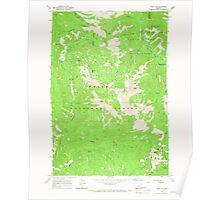USGS Topo Map Oregon China Cap 279343 1965 24000 Poster