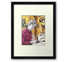 Morning paper, Kim Framed Print