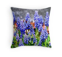In to Blue Throw Pillow