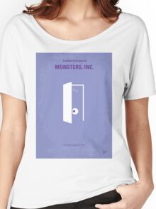 No161 My Monster Inc minimal movie poster Women's Relaxed Fit T-Shirt