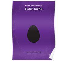 No162 My Black Swan minimal movie poster Poster