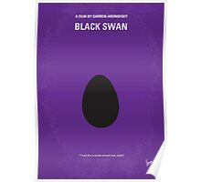 No162 My Black Swan minimal movie poster Poster