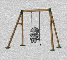 Lonely Robot on a Swing One Piece - Short Sleeve