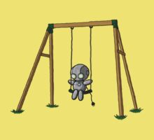 Lonely Robot on a Swing Kids Clothes