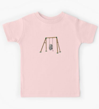 Lonely Robot on a Swing Kids Tee