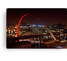 Millennium Bridge, Gateshead, Newcastle. UK Canvas Print