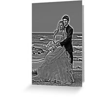 black and white with a halo Greeting Card