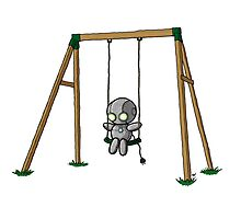 Lonely Robot on a Swing by TheRandomFactor