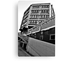 Buildings In Monochrome Canvas Print