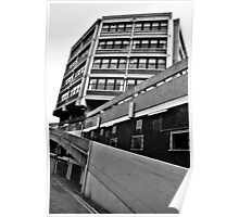 Buildings In Monochrome Poster