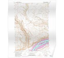 USGS Topo Map Washington Wood Gulch 244779 1962 24000 Poster