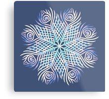 Peacock feathers / Mandala Metal Print