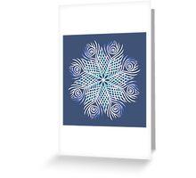 Peacock feathers / Mandala Greeting Card