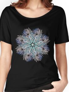 Peacock feathers / Mandala Women's Relaxed Fit T-Shirt