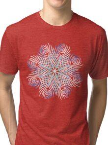 Peacock feathers / Mandala Tri-blend T-Shirt