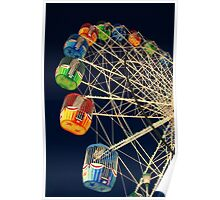 Twilight Ferris Wheel Poster