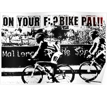 Spring Time Cycling on the Island of Mallorca Poster