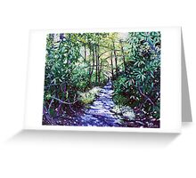 'The Glen Burney Trail' (Blowing Rock, NC) Greeting Card