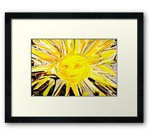 Sending You some rays of Sunshine Framed Print