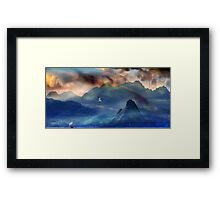 Sounding Distant Mountains. Framed Print