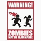 WARNING! Zombies may be flammable by Teevolution
