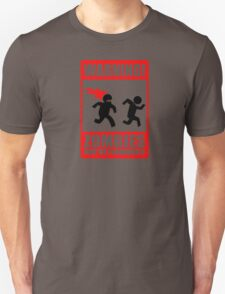 WARNING! Zombies may be flammable Unisex T-Shirt