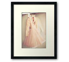 Corsage Lace dress Framed Print
