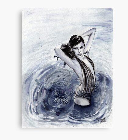 Blue Swim Canvas Print