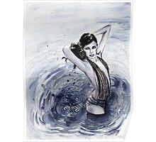 Blue Swim Poster