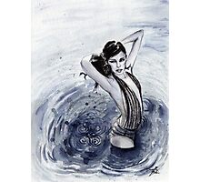 Blue Swim Photographic Print