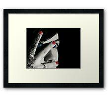 Hear no evil, Speak no evil....  Framed Print